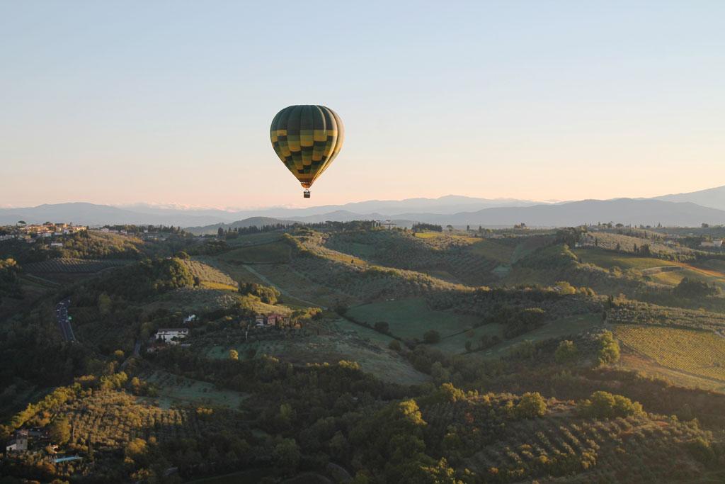 Ballooning over Chianti