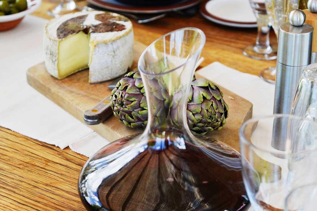 Purple artichokes, venice food