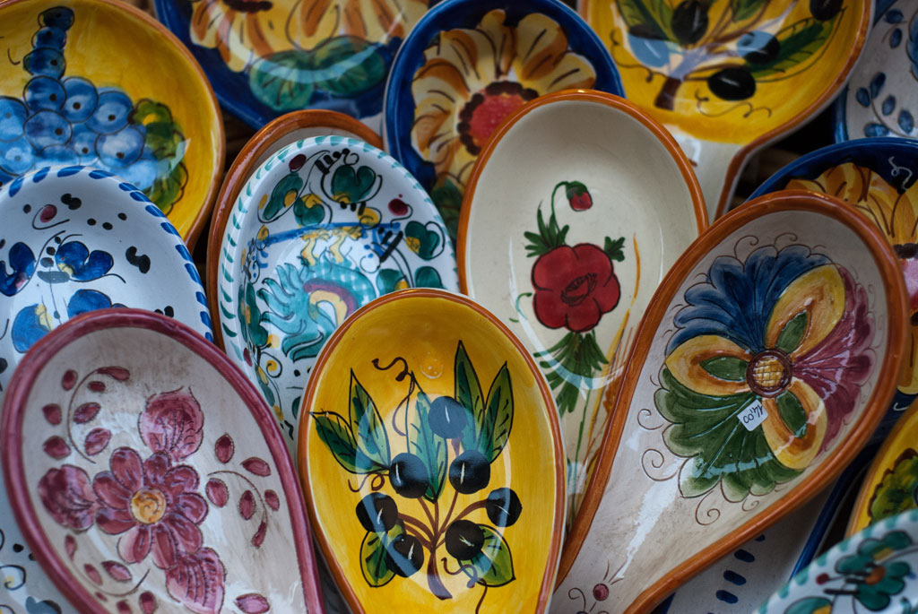Traditional ceramics in Orvieto, Umbria, Italy