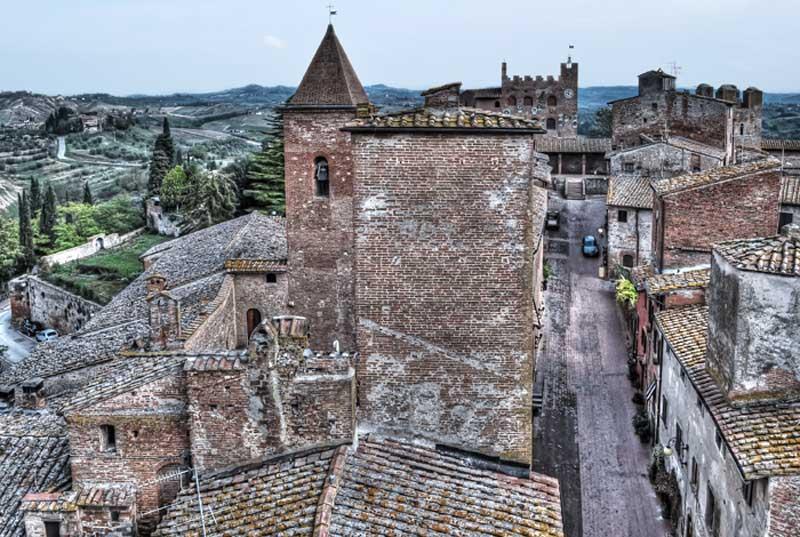 Certaldo bell tower Tuscany