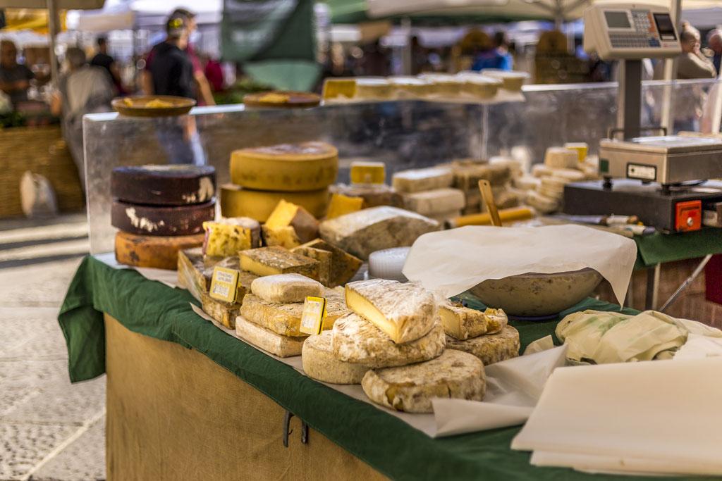 Cheese in Italian market