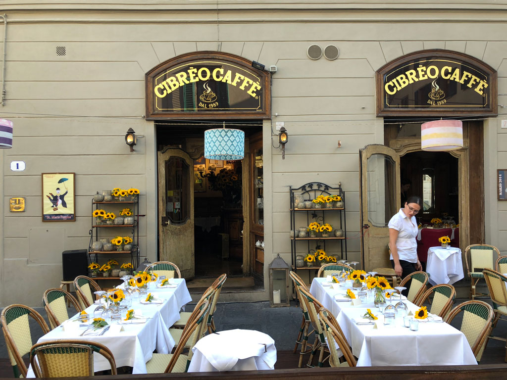 Cibreo Caffe in Florence Italy