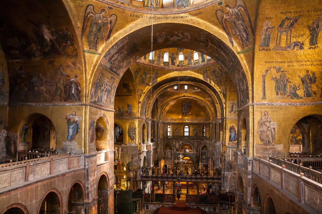 Details of the interior of St Mark's Basilica, Venice, Veneto, Italy