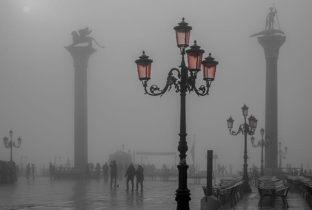 Venice with fog