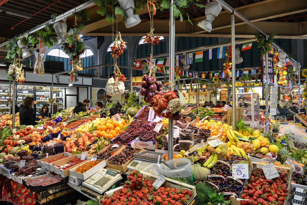 Florence market, fruits and vegetables in Italy market