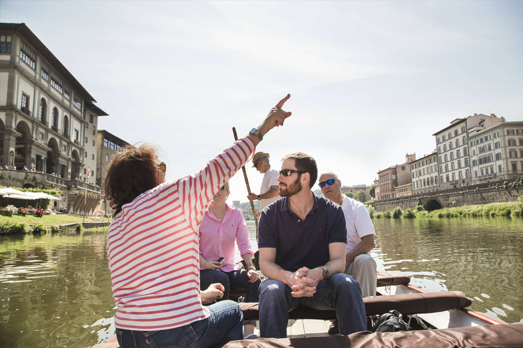 Gondola ride in Arno river