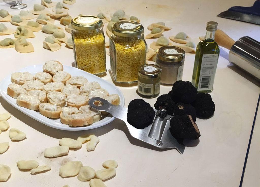 Truffles and ravioli