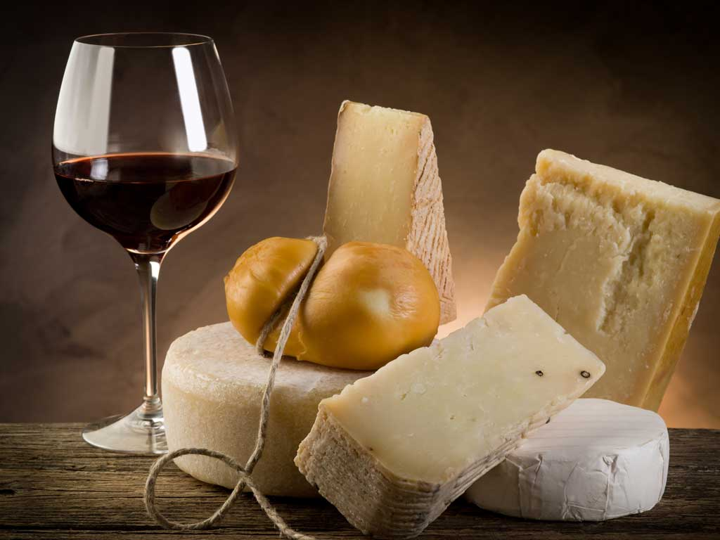Wine and cheese in Chianti