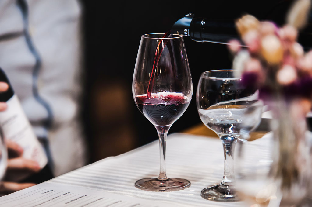 wine tasting and dinner