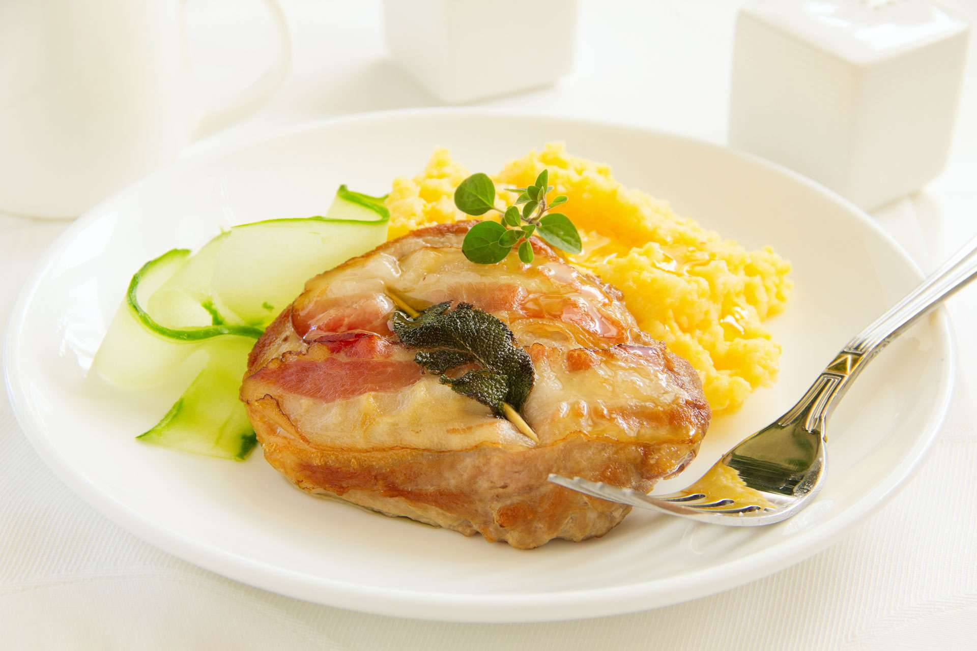 Veal Saltimbocca with Polenta