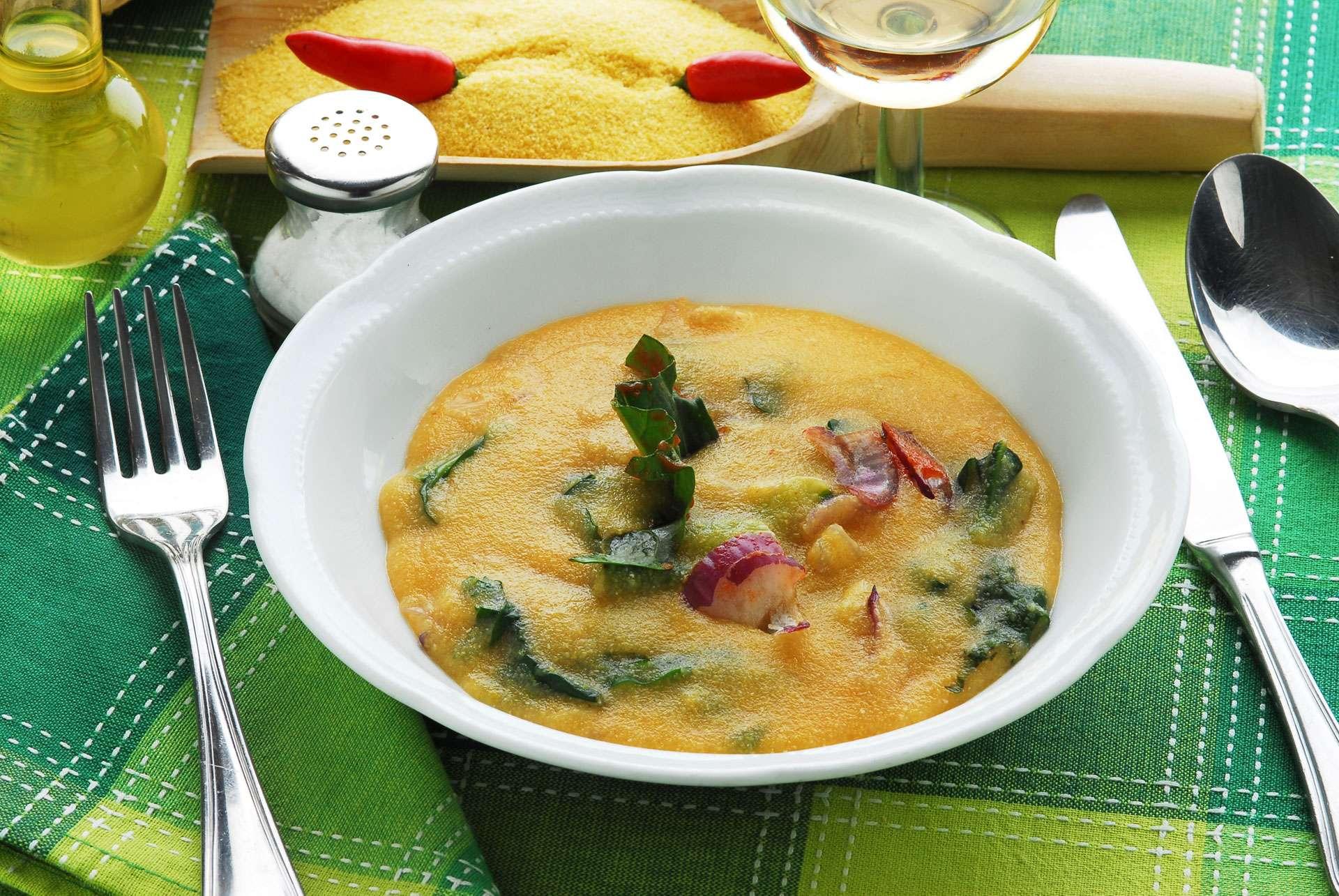 Farinata di Cavolo Nero (Tuscan Kale & Polenta Soup)