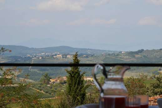 Villa di Bonorlo - Views of the nearby hilltop villages such as San Pancrazio.