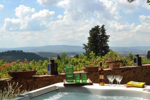 Casa Grazia - The views have changed little over the centuries, can be admired from almost every window but most especially from the hot tub positioned at the edge of the terrace.