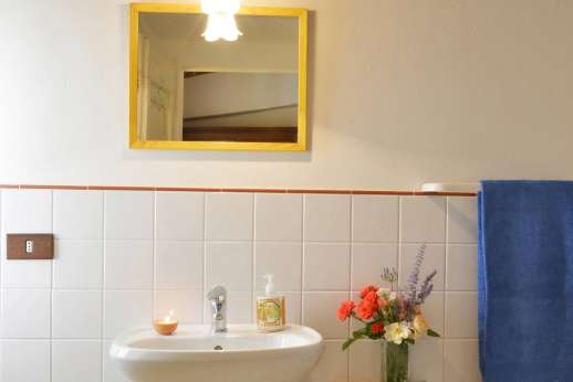 Il Giogo - The en suite bathroom with shower.