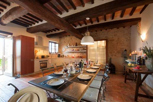 Il Nestorello - The sitting/dining and kitchen ground floor.