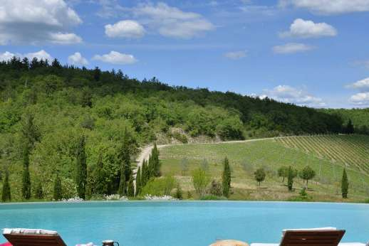 Il Trebbio - Spectacular 13C hilltop farmhouse surrounded by rolling hills in the heart of the Chianti.