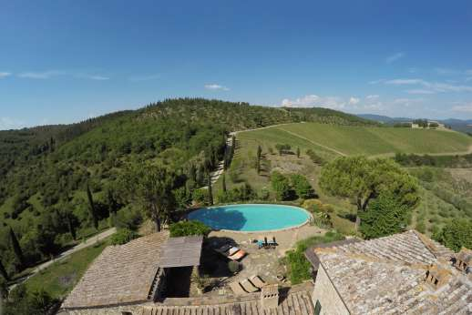 Il Trebbio - A truly Tuscan farm house, surrounded by rolling hills in the heart of the Chianti.