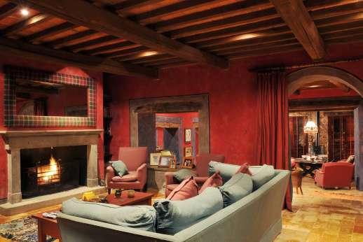 I Poggi  - The old wooden beams are a beautiful traditional touch through out the villa.