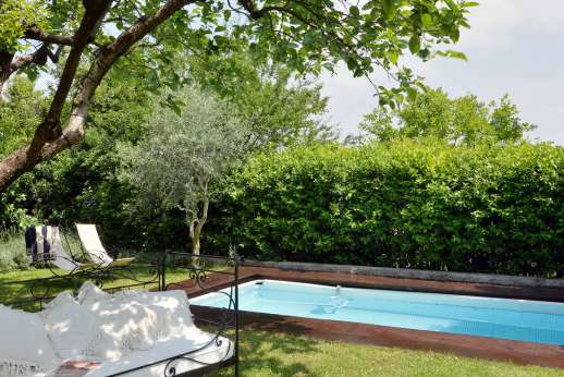Villa di Citille - The private salt water swimming pool, 4 x 6 meters/13 x 19 feet