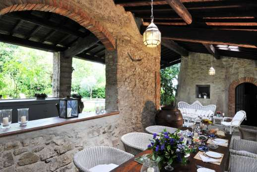 Villa di Citille - Outside dining loggia