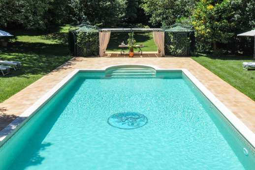 La Luna - The private swimming pool 8 x 14m/26 x 45 feet.