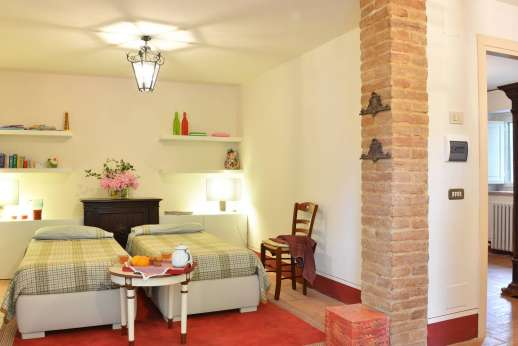 Podere Santa Giulia  - The second guest house beds convertible to a double.