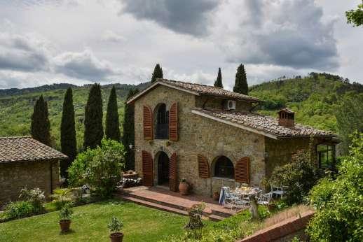 Tenuta il Poggio - The guesthouse and magnificent views.