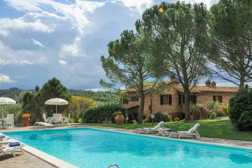 Villa Le Focaie - Villa Le Focaie. Asciano in the  heart of the Crete Senese close to Siena. Tuscany.