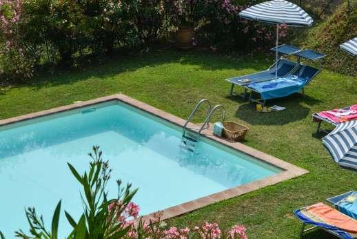 Villa Poggio ai Cipressi - Gorgeous greenery surrounding the pool.