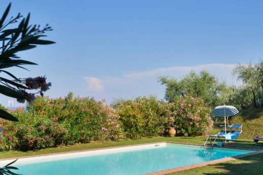 Villa Poggio ai Cipressi - The private pool is set just outside the gated garden, hence secure for children.