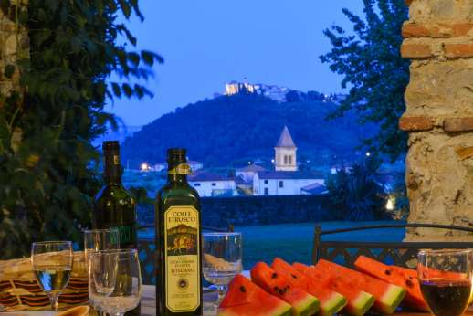 Villa Poggio ai Cipressi - Spectacular night time views of the hilltop and valley.
