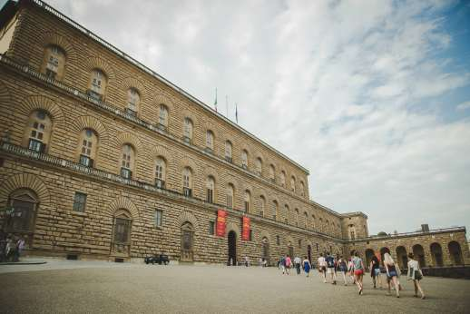 Pitti Palace & Boboli - Pitti Palace shot against a cloudy sky