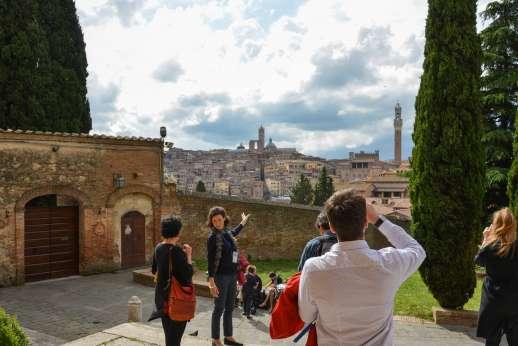 Siena Beyond The Palio - Tourists on a tour of Siena