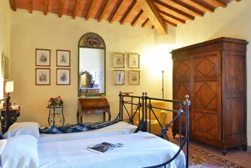Podere San Carlo - A second twin bedroom.
