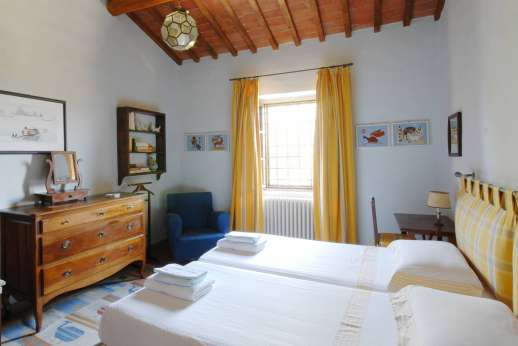 Podere San Carlo - The third twin bedroom.