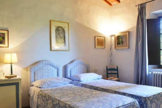 Podere San Carlo - A twin bedroom.