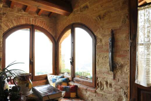 San Leolino (x 12 people) with Staff and Cook - First floor landing, a cosy corner, perfectly positioned to enjoy the views.