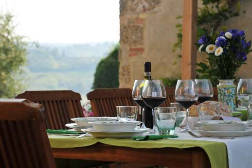San Leolino (x 12 people) with Staff and Cook - Dine al fresco with views!