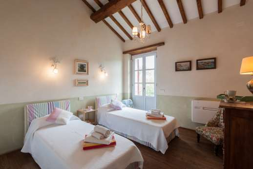 Acqua e Miele - The second twin bedroom, first floor.