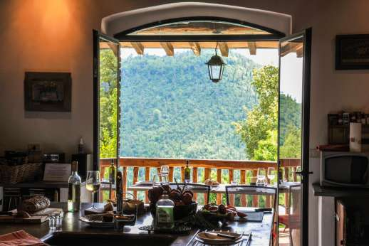 Campo Chinandoli - View from the kitchen, the rolling hills of Tuscany!