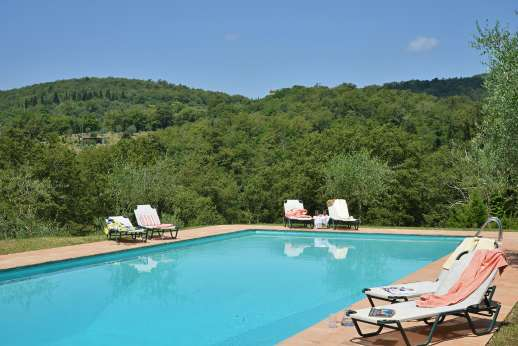 Casa al Bosco - The private 5 x 15m swimming pool, set on a grassy terrace down a fairly long path below the house.