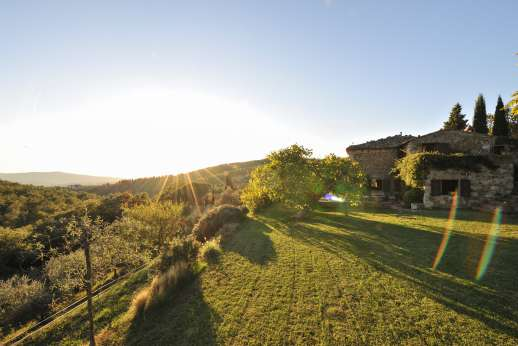 Casa al Bosco - The garden and amazing view at sunset