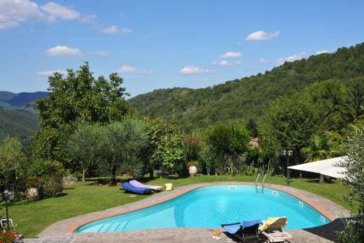 Casa Paggetti - The private swimming pool is set on a lower terrace, positioned for the views.