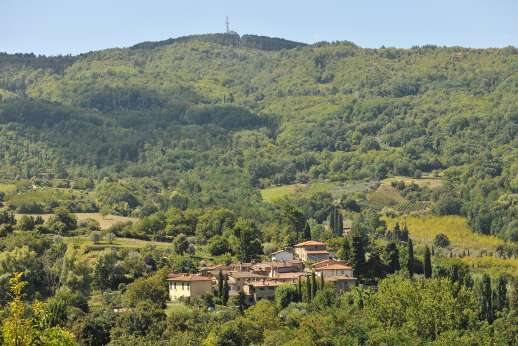 Casa Paggetti - Views overlooking the beautiful valley dotted with farmhouses, vineyards and olive groves.