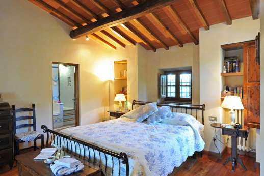 Casa Paggetti - The double bedroom with private bathroom
