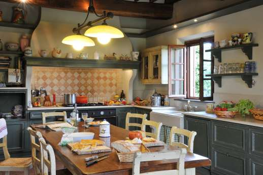 Casa Tara - Another view of the main house kitchen.