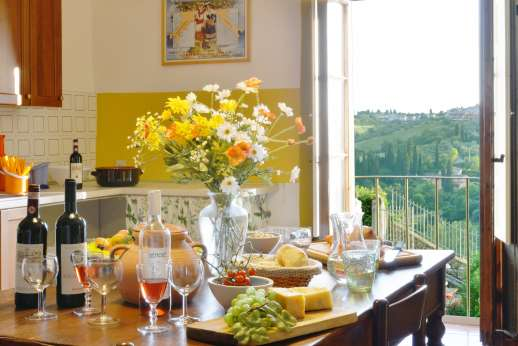 Casa Vecchia - The kitchen has direct access outside.