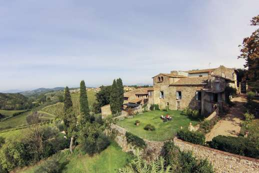 Casa Vecchia - The old stone farmhouse forms part of a small Renaissance hamlet.