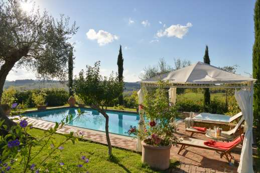 Colli Fiorentini - Views from the pool terrace and hot tub.