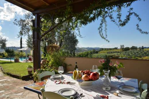 Colli Fiorentini - With sweeping views of hills blanketed with vineyards and olive groves.